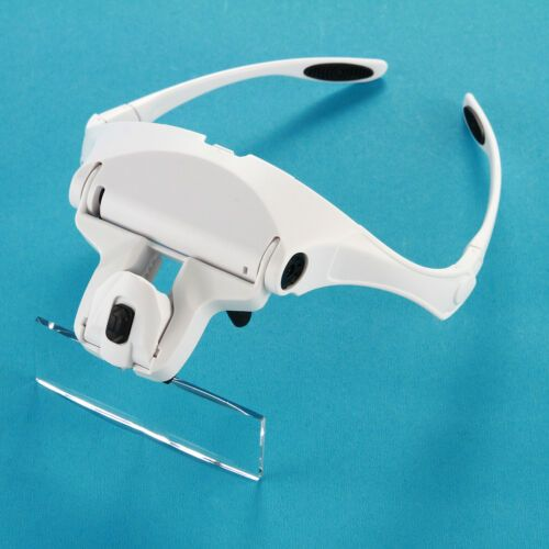 Headband Magnifier Glasses Headset with LED 2