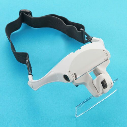 Headband Magnifier Glasses Headset with LED 7