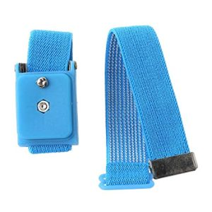 Blue Anti Static Wrist Strap Cordless Bracelet Wireless Adjustable Electrostatic ESD Discharge Cable Wristband