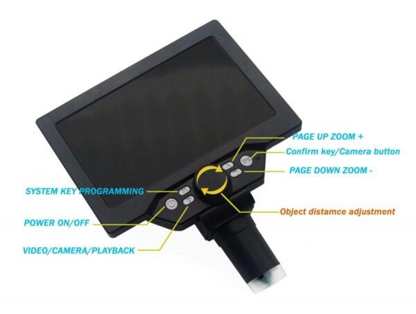 USB Digital Microscope 1200X 7 Inch Large Display 4