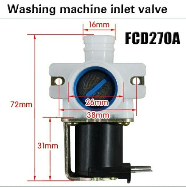 Inlet Valve for Washing Machine Water Pump FCD270A 2