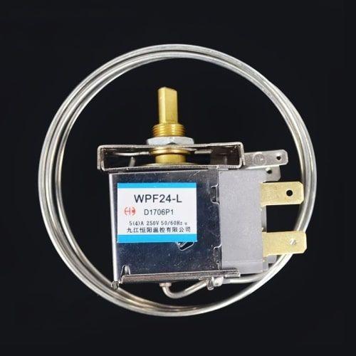 WPF24-L Freezer Refrigerator Thermostat AC 250V 6A 2 Pin Terminals 1