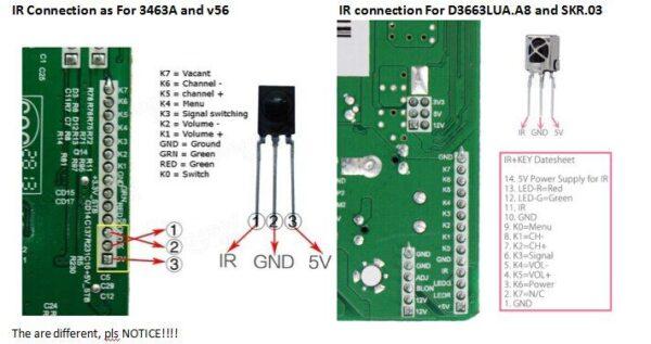 LED TV Universal 7 keys TV Keypad + IR 6