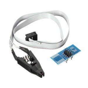 SOIC8 SOP8 to DIP8 Flash Chip IC Clip Socket Adapter for IC Programmer Bangladesh